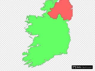Ireland Contour Map