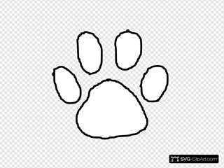 Tiger Paw Print Outline Clip art, Icon and SVG - SVG Clipart