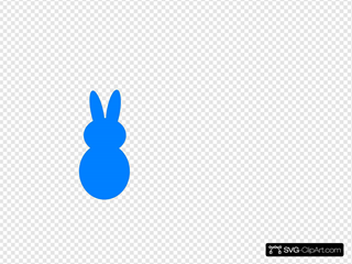 Blue Dark Peep Bunny