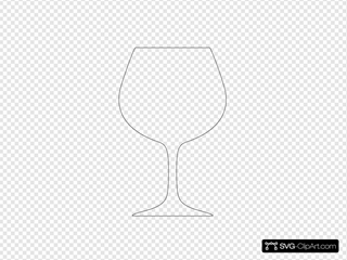 Wine Glass Outline Black