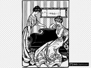 Two Women In Dresses - 1907
