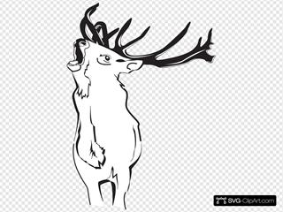 Loud Deer SVG Clipart