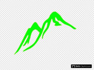 Mountain No Outline Green