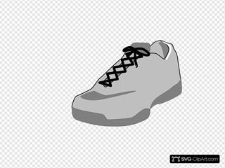 Shoe Outline White