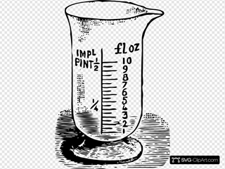Measuring Glass Clip Art Icon And Svg Svg Clipart