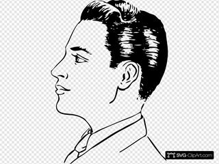 Men Haircut Side View