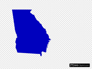 Map Of Georgia Outline.Georgia State Map Outline Solid Clip Art Icon And Svg Svg Clipart
