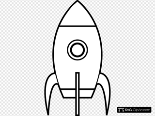 Black And White Rocket