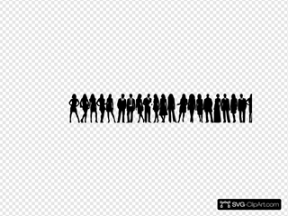 Shadow Of People SVG Clipart