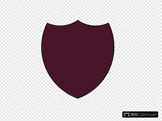 Shield Outline - Maroon