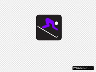 Ski Purple Outline