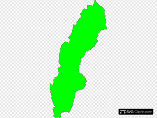Sweden Outline Map
