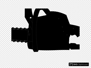 Chainsaw Black Outline
