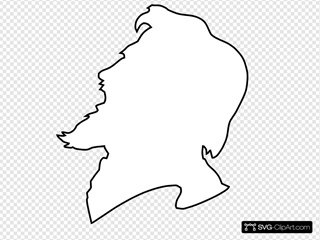 Person Yelling Outline SVG Clipart