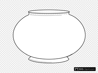 Simple Fishbowl Outline Svg Vector Simple Fishbowl Outline Clip Art Svg Clipart