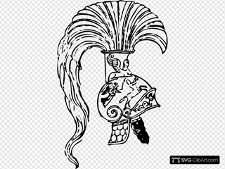 Greek Helmet SVG Clipart