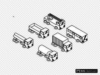 Six Toy Cars