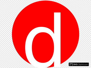 Red, Rounded, With D