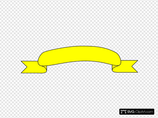 Yellow Ribbon Black Outline