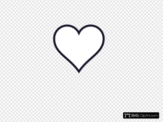 Navy Outline Heart