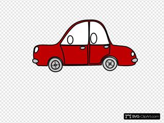 Car Outline Red