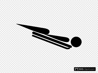 Olympic Sports Skeleton Pictogram