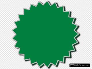 Starburst Outline Green