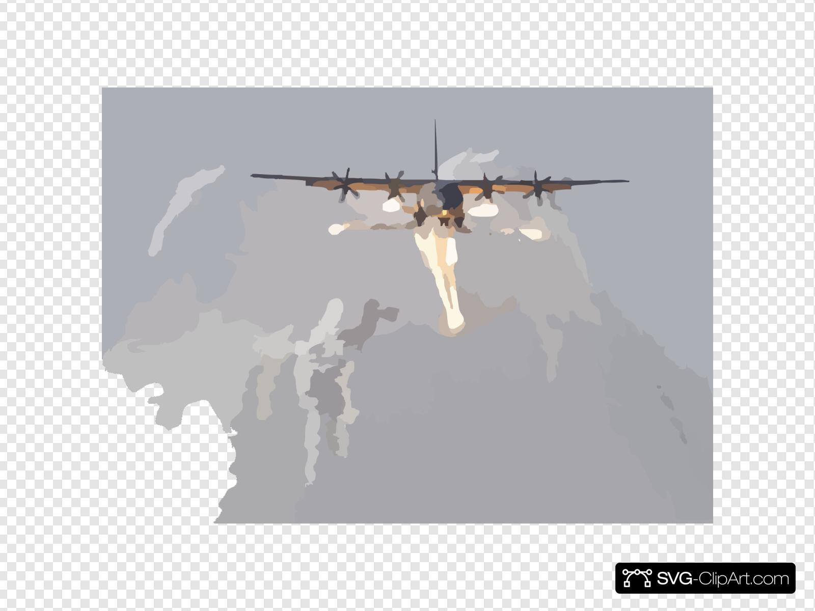 A British C-130j Hercules Aircraft Launches Defensive Countermeasures Prior To Being The First Coalition Aircraft To Land On The Newly Reopened Military Runway At Baghdad International Airport