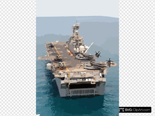 The Amphibious Assault Ship Uss Kearsarge (lhd 3) Conducting Combat Missions In Support Of Operation Iraqi Freedom.