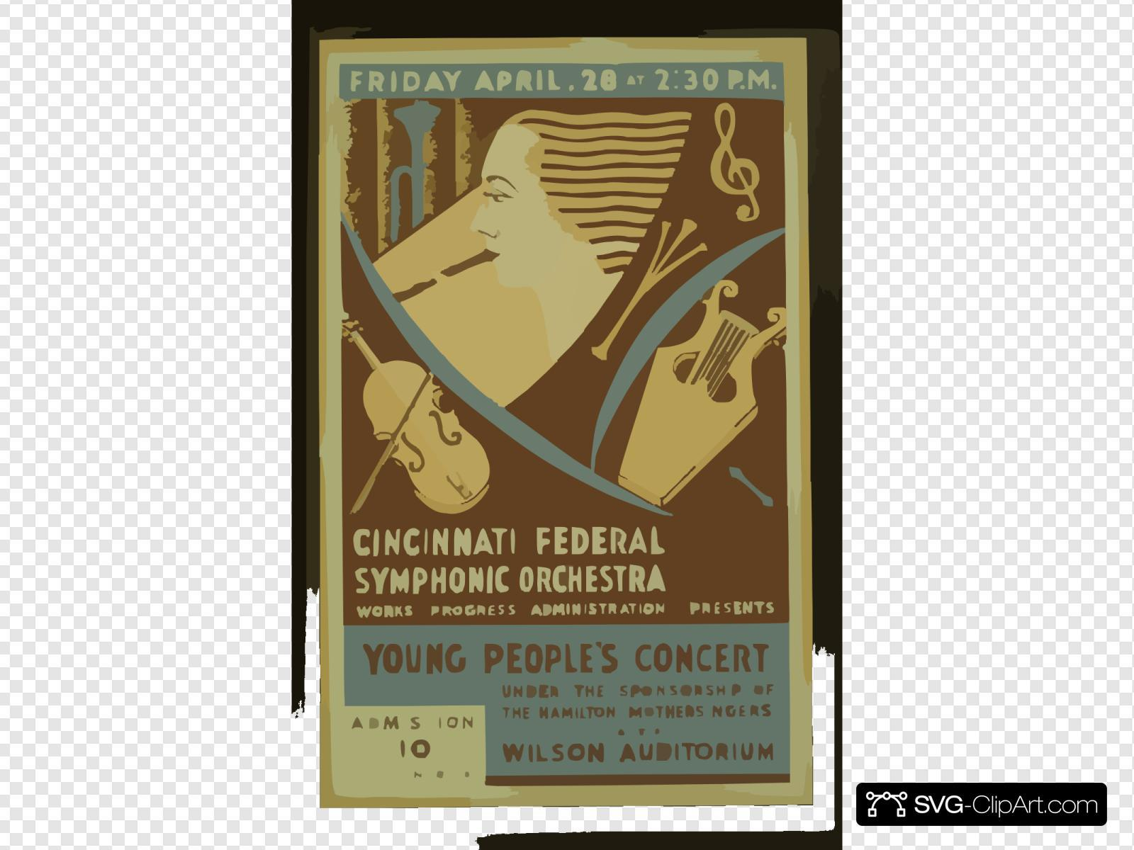 Cincinnati Federal Symphonic Orchestra, Works Progress Administration Presents Young People S Concert Under The Sponsorship Of The Hamilton Mothersingers At The Wilson Auditorium