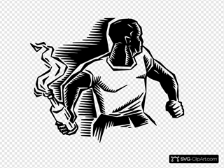Person With Molotov Cocktail SVG Clipart