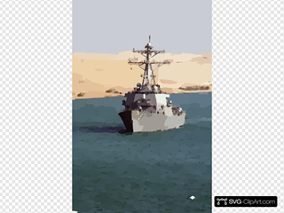 The Guided Missile Destroyer Uss Mitscher (ddg 57) Transits The Suez Canal