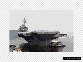 Uss Kitty Hawk (cv 63) Returns To Yokosuka, Japan From Her Deployment To The Arabian Gulf