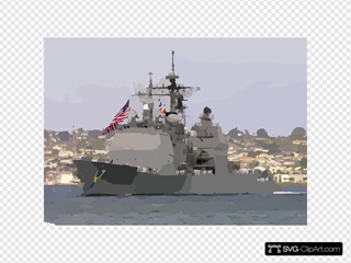 The Guided Missile Cruiser Uss Shiloh (cg 67) Makes Her Way Through The San Diego Bay To Naval Station San Diego