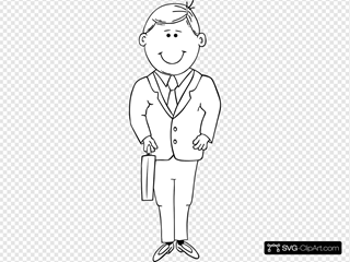 Man In Suit Outline