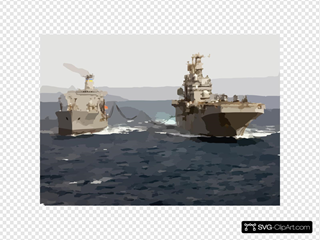 Uss Tarawa (lha 1) Receives Fuel During An Underway Replenishment With The Military Sealift Command (msc) Oiler Usns Yukon (t-ao 202)