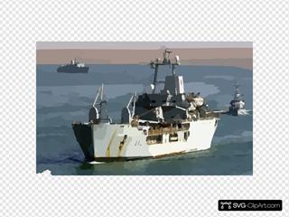 The Royal Fleet Auxiliary, Landing Ship Logistic Rfa Sir Galahad (l 3005) Arrives In The Iraqi Port City Of Umm Qasr