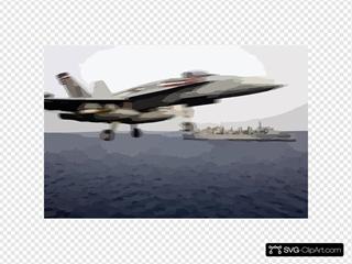 An F/a-18 Hornet Launches From The Flight Deck Aboard Uss Harry S. Truman (cvn 75)