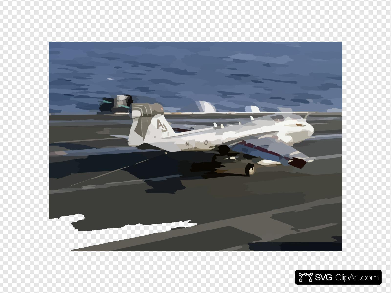 An Ea-6b Prowler Assigned To The  Shadow Hawks  Of Electronic Attack Squadron One Forty One (vaq-141) Lands On The Flight Deck Aboard The Aircraft Carrier Uss Theodore Roosevelt (cvn 71)