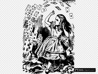 Pitr Alice In Wonderland Cards Flying