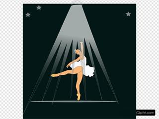 Ballerina Under Spotlight