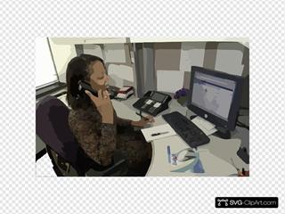 Secretary Answering Phone
