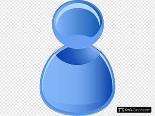 User Symbol Blue