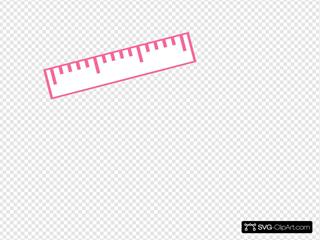 Dark Pink Ruler