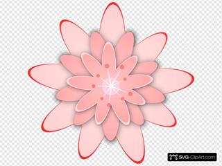 Cartoon Pink Flower