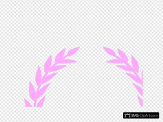Laurel Pink Wreath