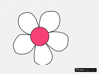 White Pink Daisy Clip art, Icon and SVG - SVG Clipart