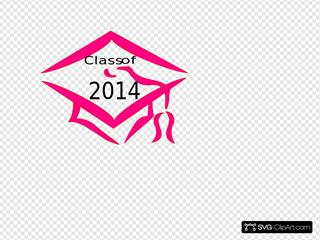 Class Of 2014 Graduation Cap - Pink