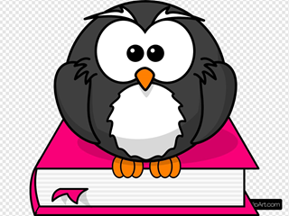 Charcoral Owl On Pink Book