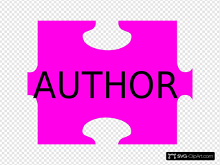 Puzzle Piece Pink Author SVG Vector, Puzzle Piece Pink Author Clip art -  SVG Clipart